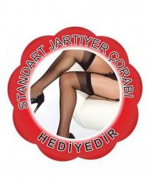 Merry See Siyah  Dantelli Fantazi  Kadın  Vücut Çorabı  Modelli