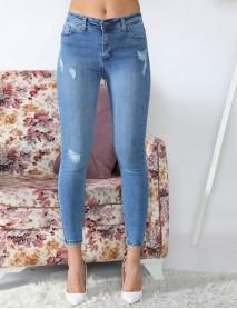 Mavi Yüksek Bel Kadın Jean Pantolon