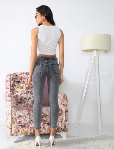 Siyah Yüksek Bel Modelli Kadın Jean Pantolon