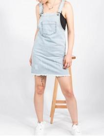 Kadın Kot Açık Mavi Cepli Jean Elbise