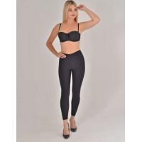 Siyah Lazer Kesim Uzun Sıkılaştırıcı Kadın Tayt Korse Modeli