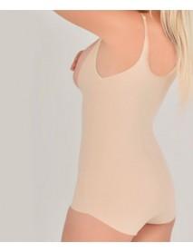 Ten rengi lazer kesim Askılıklı sıkılaştırıcı bayan korse modeli
