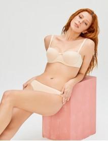 Cansoy Kadın Ten Rengi Straplez Dolgusuz Sütyen Takım
