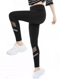 Siyah Uzun Modelli Parlak Yüksek Bel Kadın Tayt Modeli