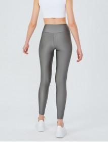 Silver Uzun Parlak Yüksek Bel Kadın Tayt Modeli