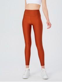 Orange Uzun Parlak Yüksek Bel Kadın Tayt Modeli